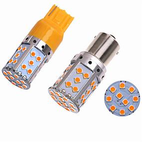 billige Nyankomne i oktober-2stk ba15s (1156) / bau15s / 7440 bilpærer smd 3030 35 led blinklys / bremselys / reverserende (backup) lys for universal alle år