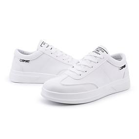 baratos Tênis Masculino-Homens Sapatos Confortáveis Couro Ecológico Outono / Primavera Verão Tênis Preto / Branco / Vermelho