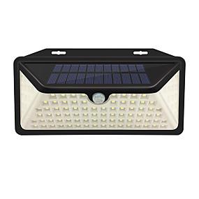 halpa Polun valot-1kpl 2 W Ulko-seinävalaisimet / Led Street Light / Aurinkosuojalaite Vedenkestävä / Aurinkokenno / Infrapunasensori Valkoinen 3.7 V Ulkovalaistus / Piha / Puutarha 102 LED-helmet