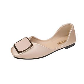 voordelige Damesschoenen met platte hak-Dames Platte schoenen Platte hak Vierkante Teen PU Informeel Herfst Zwart / Amandel / Groen