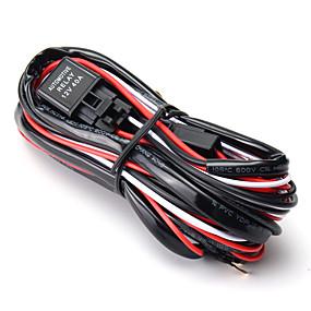 billige Nyankomne i oktober-1 stk 2,5 m ledet lyslampe ledningsnett med sikring 40a relé av / på bryter universal for jeep terrengbil