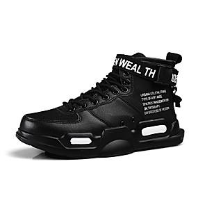 baratos Tênis Masculino-Homens Sapatos Confortáveis Lona / Couro Ecológico Outono / Outono & inverno Esportivo / Casual Tênis Preto / Branco e Preto / Branco