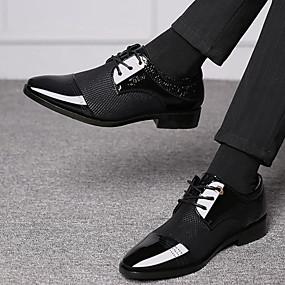 halpa Miesten Oxford-kengät-Miesten Comfort-kengät PU Kesä Oxford-kengät Hengittävä Musta / Ruskea