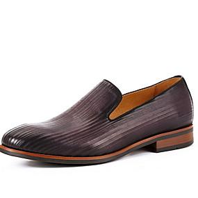 cheap Men's Slip-ons & Loafers-Men's Bullock Shoes Cowhide Summer Loafers & Slip-Ons Warm Purple