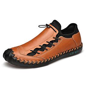 abordables Chaussures Sans Lacets & Mocassins Homme-Homme Chaussures en cuir Cuir Printemps été / Automne hiver Business / Simple Mocassins et Chaussons+D6148 Marche Ne glisse pas Noir / Brun claire