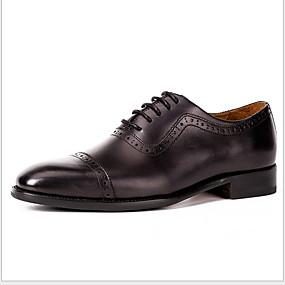 halpa Miesten Oxford-kengät-Miesten Comfort-kengät Nahka Kesä Oxford-kengät Hengittävä Musta / Kahvi