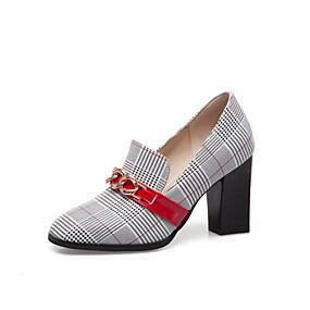 voordelige Damesinstappers & loafers-Dames Loafers & Slip-Ons Blokhak Ronde Teen Synthetisch Zomer Groen / Rood