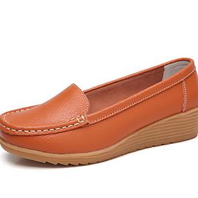 voordelige Damesinstappers & loafers-Dames Loafers & Slip-Ons Sleehak Ronde Teen EVA / Leer Lente & Herfst / Zomer Zwart / Lichtblauw / Wit