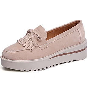 voordelige Damesinstappers & loafers-Dames Loafers & Slip-Ons Creepers Ronde Teen PU Zomer Zwart / Bruin / Groen