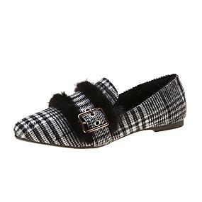 voordelige Damesinstappers & loafers-Dames Loafers & Slip-Ons Blok hiel Gepuntte Teen PU Herfst Zwart / Khaki
