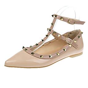 voordelige Damesschoenen met platte hak-Dames Platte schoenen Platte hak Gepuntte Teen PU Informeel Herfst Zwart / Amandel / Beige