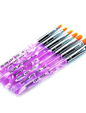 voordelige Nagelborstels-7pcs Nylon Nail Art Kit Nail acrylborstel Voor Vingernagel Teennagel Acrylkwast Noviteit Nagel kunst Manicure pedicure Klassiek / leuke Style Dagelijks