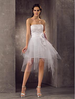 f153aa021fd7 Χαμηλού Κόστους Γάμοι  amp  Εκδηλώσεις-Ίσια Γραμμή Στράπλες Κοντό   Μίνι  Τούλι Φορέματα γάμου