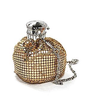 billige Ruxandra Loana-Dame Krystalldetaljer Nylon / Metall Aftenveske Rhinestone Crystal Evening Bags Svart / Sølv / kaffe