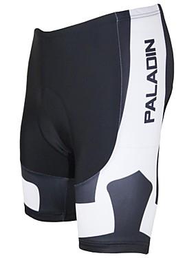 저렴한 스포츠 & 아웃도어-ILPALADINO 남성용 싸이클 페딩 반바지 자전거 반바지 패드 반바지 바지 통기성 빠른 드라이 자외선 방지 스포츠 폴리에스테르 라이크라 블랙 / 화이트 로드 사이클링 의류 Relaxed Fit 자전거 의류 / 땀 흡수 기능성 소재