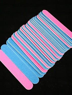voordelige Nagelvijlen & Buffers-100st Amaril / Hout Nail Art Tool Bufferblokken Voor Nagelriem Vingernagel Teennagel Ministijl Nagel kunst Manicure pedicure Eenvoudig / Klassiek Dagelijks