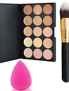 abordables Maquillaje Facial-15 colores Base Crema Rostro