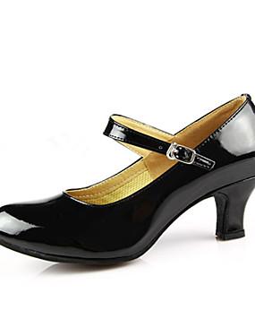 povoljno Vjenčanja i eventi-Žene PU Leather / Lakirana koža Moderna obuća / Standardni Kopča Štikle Kubanska potpetica Nemoguće personalizirati Crvena / Srebrna / Zlatna / EU40