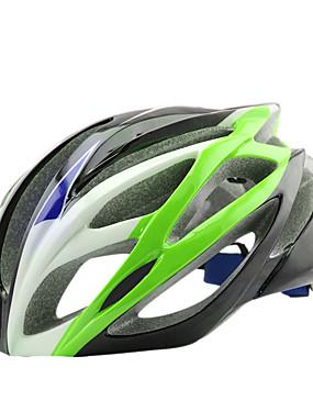abordables Sports & Loisirs-Adulte Casque de vélo 20 Aération CE Résistant aux impacts Intégralement moulé Poids léger EPS PC Des sports Vélo tout terrain / VTT Cyclisme sur Route Cyclisme / Vélo - Jaune / noir. Noir / bleu