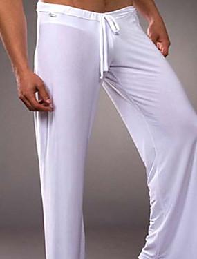 Χαμηλού Κόστους Αντρικά Εσώρουχα & Κάλτσες-Ανδρικά Μικροκαμωμένη Τεχνητό Μετάξι Αισθησιακό στην αφή Long Johns Μονόχρωμο / Συμπαγές Χρώμα Κλασσικό / Αγνό Χρώμα Ψηλή Μέση