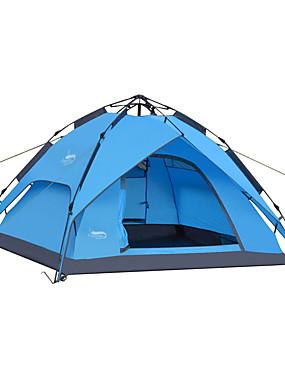 povoljno Sport és outdoor-DesertFox® 4 osobe Automatski šator Vanjski Vodootporno Vjetronepropusnost Otporno na kišu Dvaput Slojeviti Automatski Dome šator za kampiranje 2000-3000 mm za Camping & planinarenje Oksford