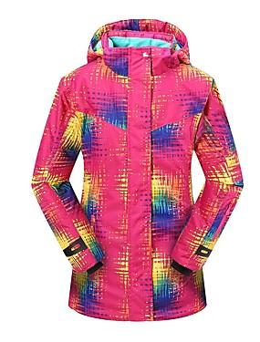 povoljno Sport és outdoor-Phibee Žene Skijaška jakna Vodootporno Vjetronepropusnost Toplo Skijanje Poliester Jakna Skijaška odjeća