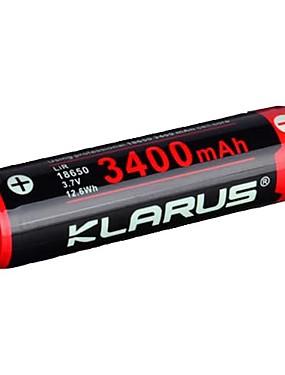povoljno Sport és outdoor-KLARUS 3400mAh baterija za Li-ion 18650 Prijenosno Profesionalna Jednostavno za nošenje Mala težina Semmi Plug Options