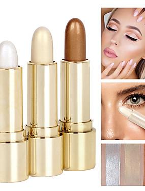 billige Ansiktsmakeup-3 farger Concealer Highlighters og bronzers Overstrykingspenner 3 pcs Glans Naturlig Glødende / Stift Sminke kosmetisk