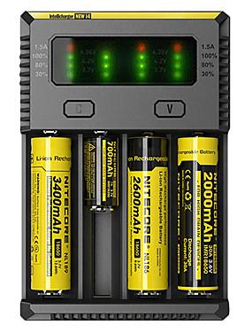 povoljno Sport és outdoor-Nitecore NEW-I4 Punjač za baterije za Li-ion Ni-Cd Ni-MH Prijenosno Profesionalna Zaštita od kratkog spoja Zaštita od prepunjavanja Plastika