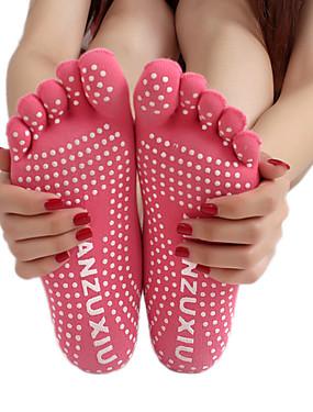 billige Sport og friluftsliv-Dame Yoga Socks Fem Toe Socks Pustende Anvendelig Svettereduserende Til Yoga & Danse Sko Dans Innendørs - 1 par Klassisk / Elastisk