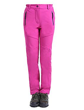 ieftine Sport i aktivnosti na otvorenom-Pentru femei Παντελόνι πεζοπορίας În aer liber Impermeabil Keep Warm Rezistent la Vânt Căptușeală Din Lână Toamnă Iarnă Fleece Pantaloni Schiat Camping & Drumeții Sporturi zăpadă Rosu Roz Gri Femei L