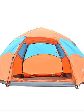 povoljno Sport és outdoor-Sheng yuan 4 osobe Automatski šator Vanjski Vjetronepropusnost Otporno na kišu Dvaput Slojeviti Automatski Dome šator za kampiranje 1000-1500 mm za Ribolov Vježbanje na otvorenom Poliester Poliester