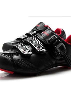 povoljno Sport és outdoor-Tiebao® Obuća za cestovni bicikl Karbonska vlakna Anti-Slip Biciklizam Crna / crvena Muškarci Tenisice za biciklizam / Kukica s omčom