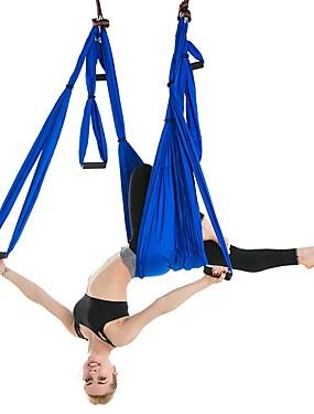 billige Sport og friluftsliv-Yogahuske Stropp til yoga i luften Hengekøye til yoga Skumpute Nylon Fiber Nylon Ultrasterk antigravitasjon Inversjonsterapi med dekompressjon Yoga i luften Inversjonsøvelser Trening Til Alle