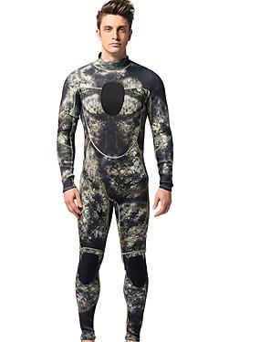 povoljno Sport és outdoor-MYLEDI Muškarci Dugo mokro odijelo 3mm Neopren Ronilačka odijela Ugrijati Dugih rukava Povratak Zipper - Plivanje Ronjenje Kolaž Proljeće Ljeto Jesen
