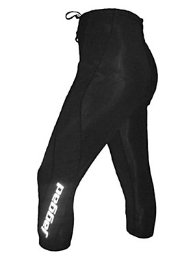 ieftine Sport i aktivnosti na otvorenom-Jaggad Bărbați Pantaloni Cycling Negru Culoare solidă Bicicletă Pantaloni 3/4 Ciorapi Respirabil Uscare rapidă Dungi reflectorizante Sport Nailon Ciclism montan Ciclism stradal Îmbrăcăminte