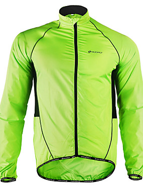 cheap Sports & Outdoors-Nuckily Men's Cycling Jacket Bike Jacket Windbreaker Raincoat Waterproof Windproof Breathable Sports Polyester Winter Green Mountain Bike MTB Road Bike Cycling Clothing Apparel Advanced Relaxed Fit