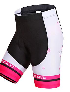 abordables Deportes y Ocio-WOSAWE Mujer Pantalones Acolchados de Ciclismo Bicicleta Shorts / Malla corta Pantalones Cortos Acolchados Pantalones Resistente al Viento Transpirable Secado rápido Deportes Rayas Poliéster Licra
