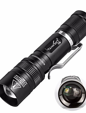 cheap Sports & Outdoors-Tank007 F2 LED Flashlights / Torch LED Dual LED LED 2 Emitters 2 Mode Waterproof Portable Cute Camping / Hiking / Caving Everyday Use White Light Source Color Black