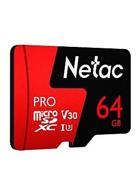 abordables Carte Micro SD/TF-Netac 64Go carte mémoire UHS-I U3 / V30 P500pro