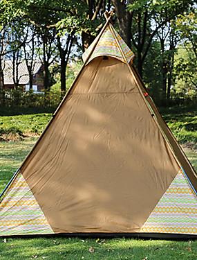 810a6be350 Sheng yuan 4 osoby Rodinné kempování stan Outdoor Větruvzdorné Odolné vůči  dešti Prodyšnost S jednou vrstvou Tyč Camping Tent 2000-3000 mm pro  Kempování a ...