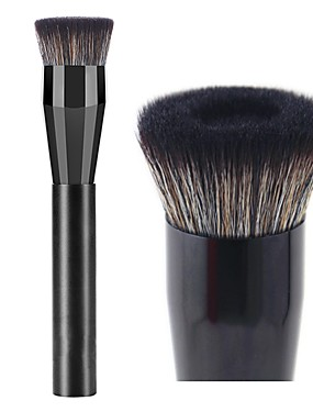 halpa perusta harjat-ammattilainen Makeup Harjat 1 kpl Ammattilais Pehmeä Täysi kattavuus synteettinen Synteettinen tukka Muovi varten Alusvoidesivellin Meikkiharja