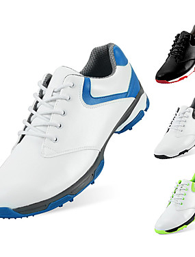 ieftine Sporturi cu Rachetă-Bărbați Pantofi de Golf Cauciuc Respirabil Golf Purtabil Nappa Leather Piele Albastru și Alb Negru și Alb Verde