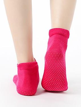 billige Sport og friluftsliv-Dame Sport Sokker / Athletic Socks Yoga Socks Til Yoga & Danse Sko Pilates Stang - 1 par Bomull / nylon med et snev av strekningen / Elastisk