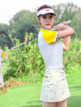 povoljno Sport és outdoor-PGM Žene Haljine T-majica Kratkih rukava Tenis Golf Trčanje Athleisure Vanjski Pasti Proljeće Ljeto / Rastezljivo / Quick dry / Ovlaživanje / UV otporan / Prozračnost