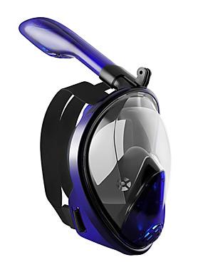 hesapli Sport i Turystyka-Şnorkel Maskesi Sualtı Tek Pencere - Yüzme Silikon - Uyumluluk Yetişkinler Turuncu / 180 Derece / Sızdırmaz / Buğulanmaz