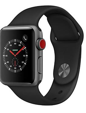abordables Montre remise à neuf-montre Apple series 3 boîtier de 38mm en acier inoxydable (cellulaire gps) remis à neuf