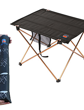 cheap Sports & Outdoors-Camping Table Portable Lightweight Foldable Oxford Aluminium for Fishing Hiking Beach Camping Spring Summer Black