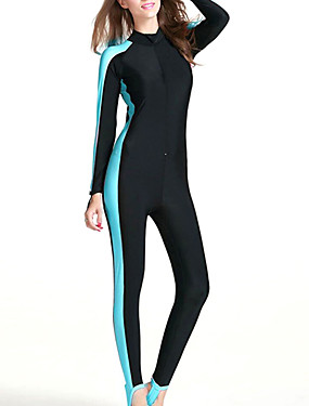 ieftine Sport i aktivnosti na otvorenom-SBART Pentru femei Costum Scufundări din Piele 2mm Costume de scafandru SPF50 Protecție UV la soare Uscare rapidă Manșon Lung Fermoar Față - Înot Scufundare Surfing Peteci