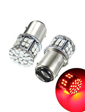 billige Ugentlige tilbud2-pakke med 2 super lyse bay15d 1157 50smd 1206 led bilbremselys dc 12v 50 leds auto baklygter rødt sving lampe pære